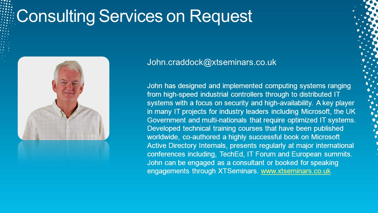 John has designed and implemented computing systems ranging from high-speed industrial controllers through to distributed IT systems with a focus on security and high-availability.