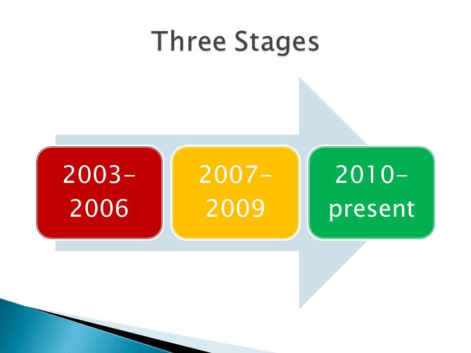 2003- 2006 2007- 2009 2010- present