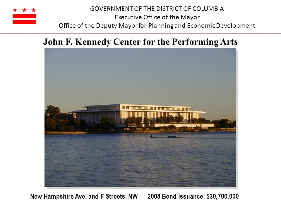 GOVERNMENT OF THE DISTRICT OF COLUMBIA Executive Office of the Mayor Office of the Deputy Mayor for Planning and Economic Development John F.