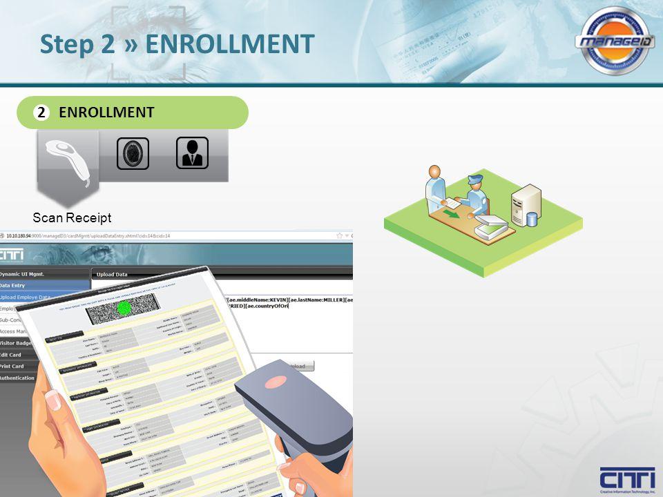 ENROLLMENT 2 Scan Receipt Step 2 » ENROLLMENT