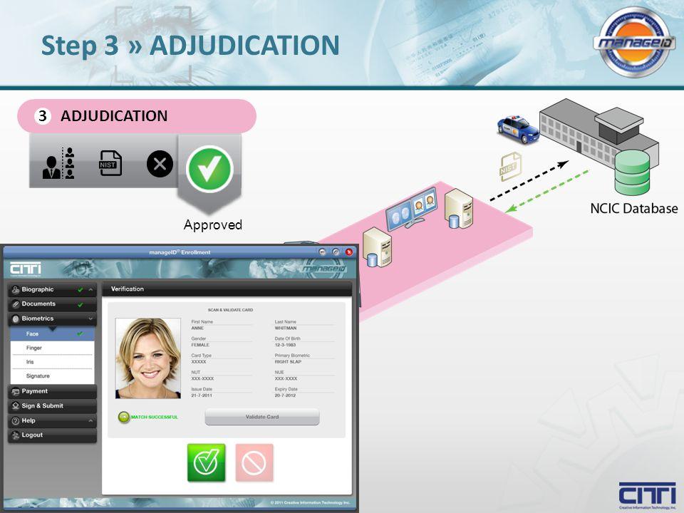 ADJUDICATION 3 Approved Step 3 » ADJUDICATION