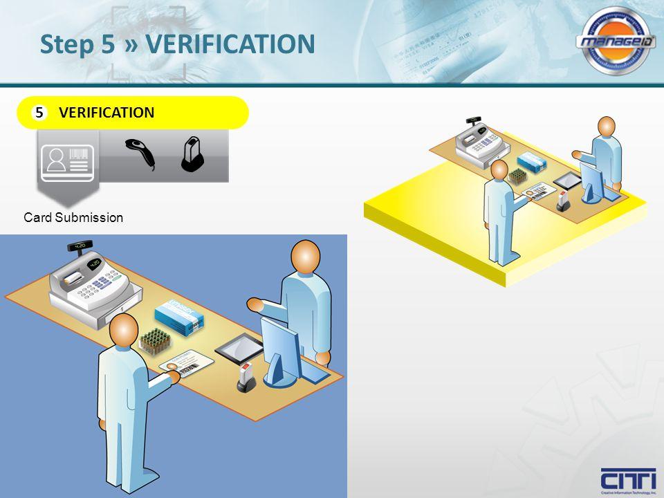 VERIFICATION 5 Card Submission Step 5 » VERIFICATION