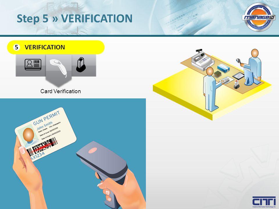 VERIFICATION 5 Card Verification Step 5 » VERIFICATION