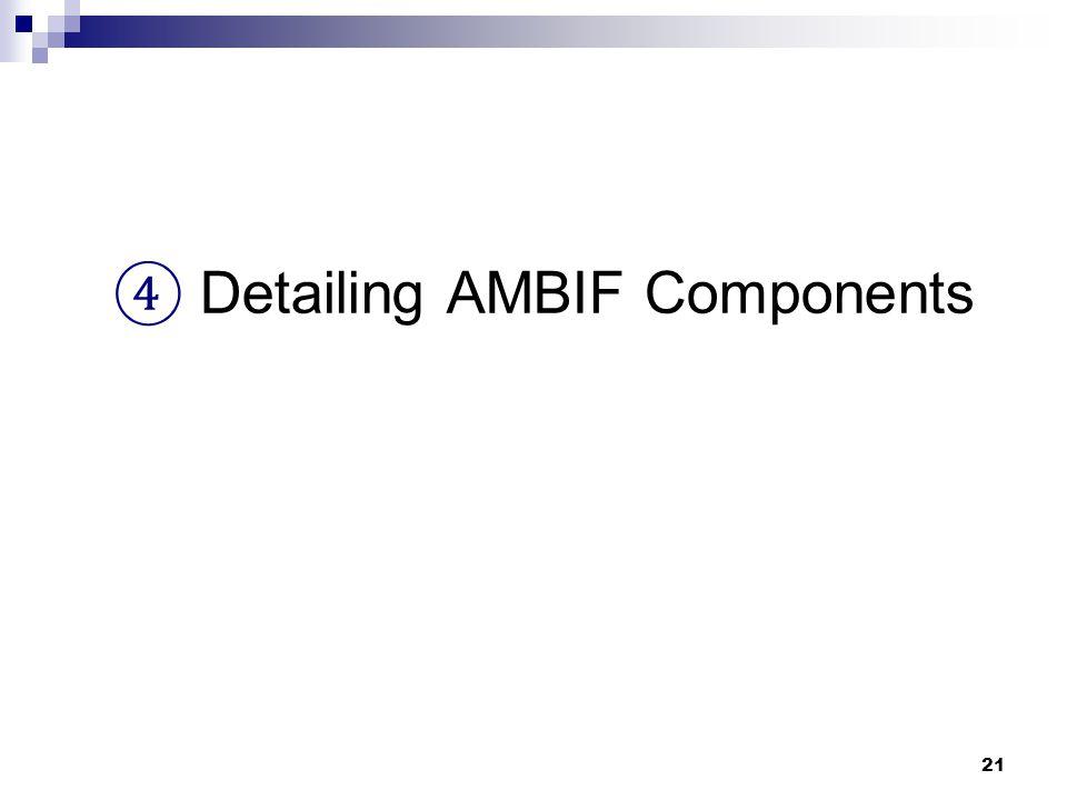 21 ④ Detailing AMBIF Components