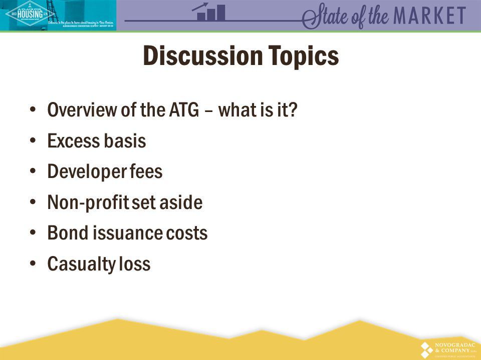 Discussion Topics Overview of the ATG – what is it.