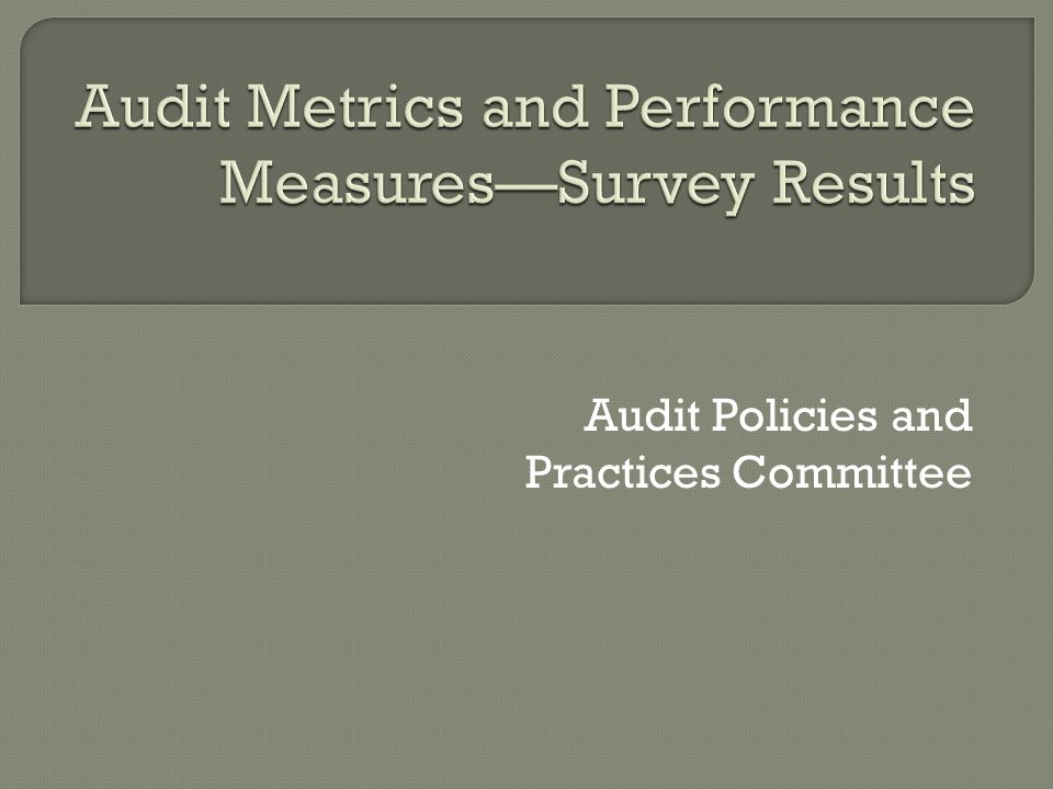 Audit Policies and Practices Committee