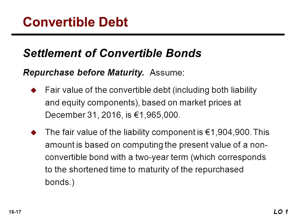 16-17 Settlement of Convertible Bonds Repurchase before Maturity.