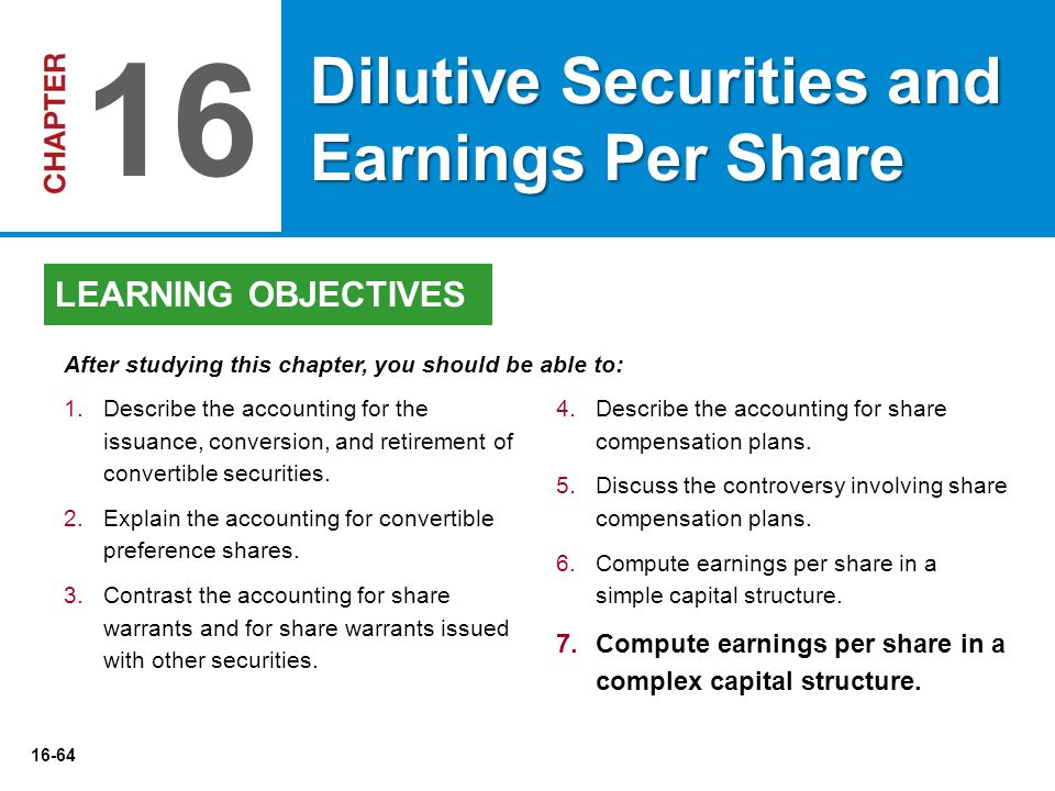 16-64 4.Describe the accounting for share compensation plans.