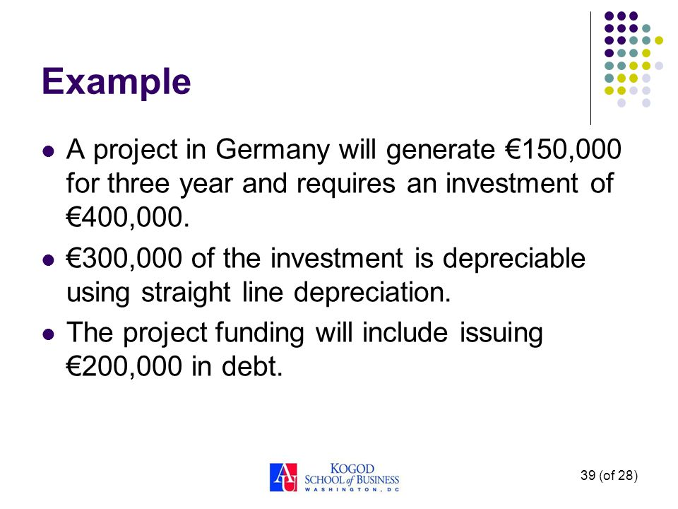 Estimating the Future Expected Exchange Rates We can apply PPP: Note: This is what we did in the NPV example.