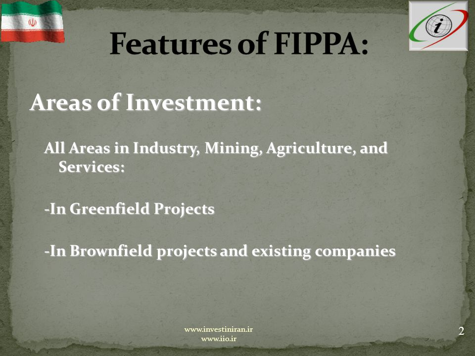 Risks Covered under FIPPA: Risks Covered under FIPPA: All non-Commercial Risks, i.e.