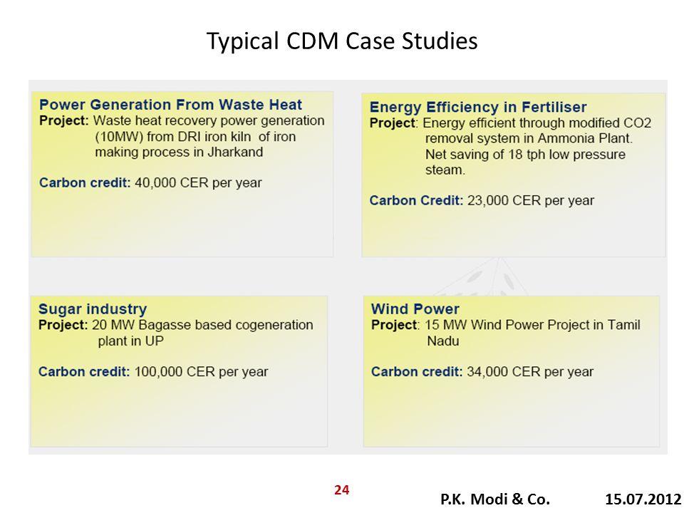 Typical CDM Case Studies P.K. Modi & Co. 15.07.2012 24