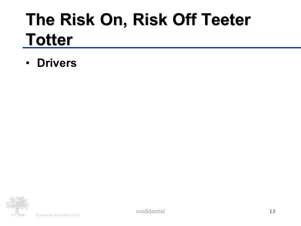 Sycamore Associates LLC The Risk On, Risk Off Teeter Totter Drivers confidential13