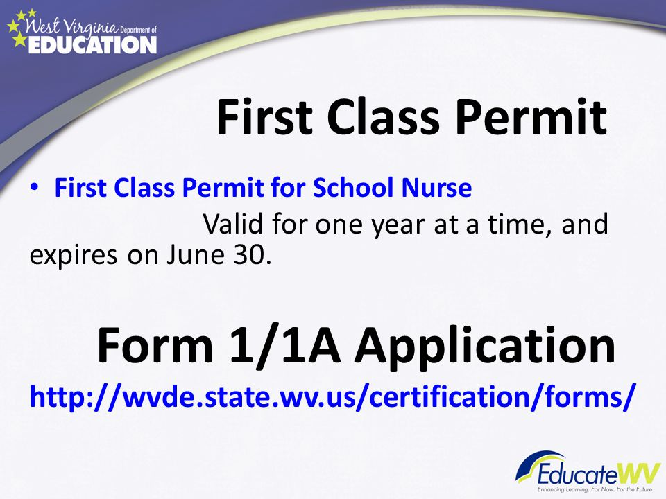 Long-Term Substitute Permit Substitute Permit for School Nurse - A School Nurse may be employed under a Long-Term Substitute Permit (12 semester college hours in nursing required) - A short-term general substitute permit cannot be issued for School Nurse