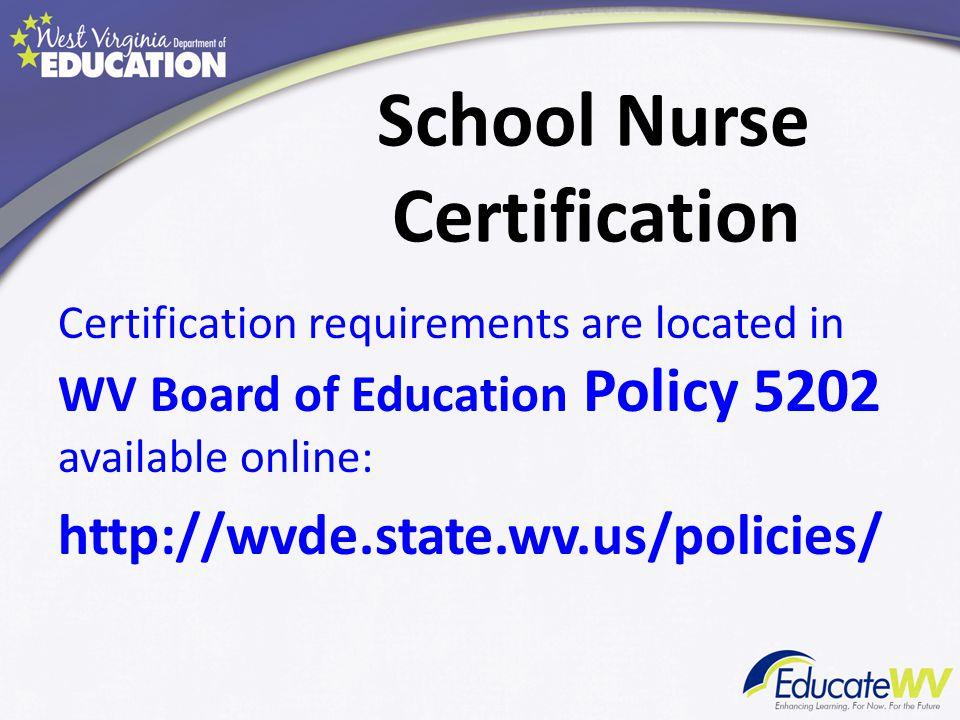 Exception Exception for School Nurse 11.1.5.Exception for School Nurse.