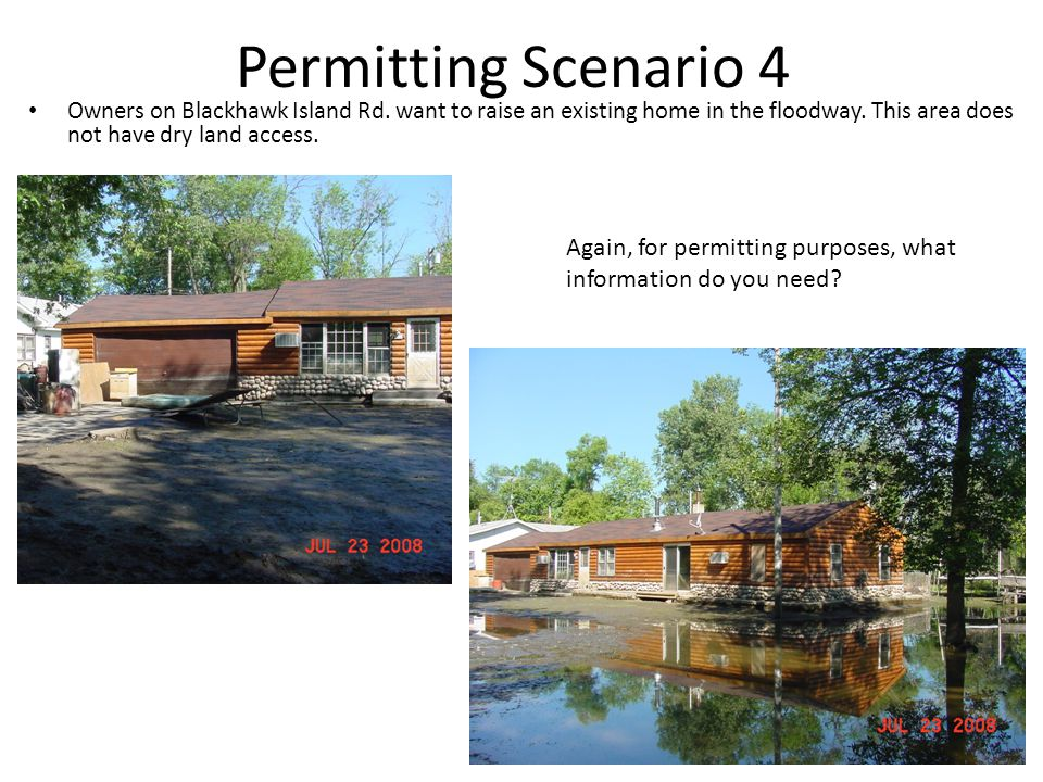 Permitting Scenario 4 Owners on Blackhawk Island Rd.