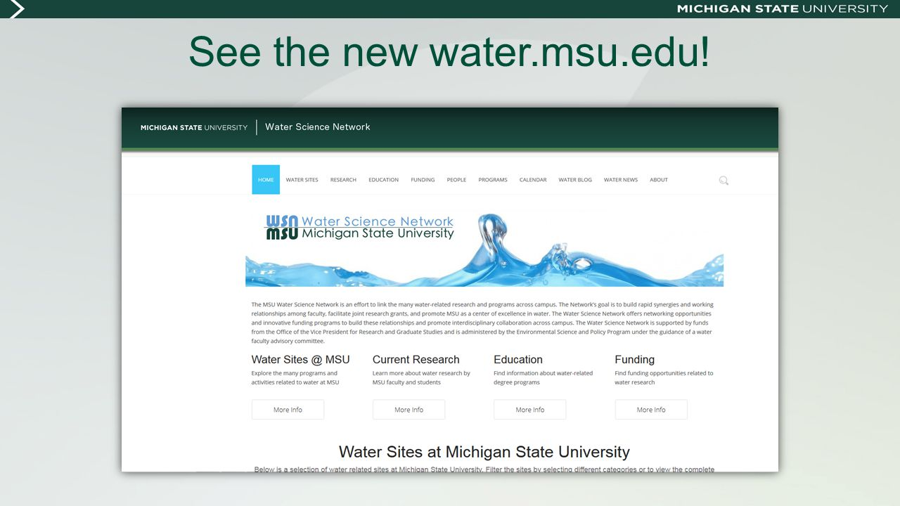 See the new water.msu.edu!