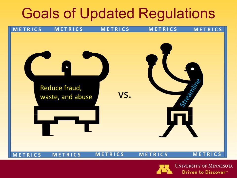 Goals of Updated Regulations