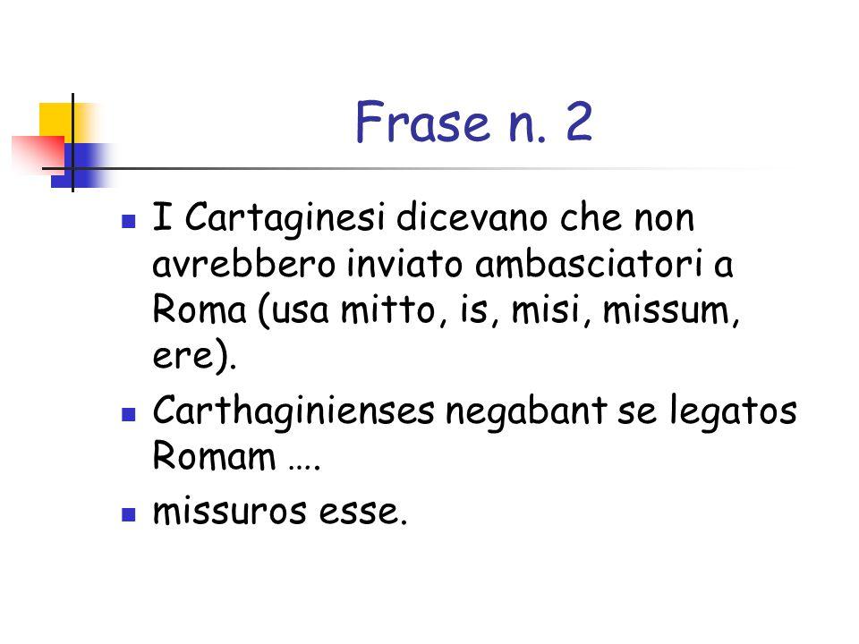 Frase n.20 Catone sperava che Cartagine sarebbe stata distrutta (usa deleo, es, evi, etum).