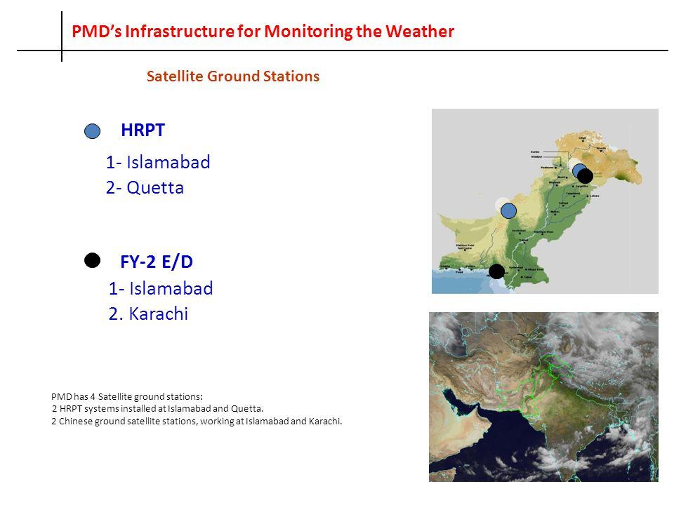 Radar's Network 10-cm Doppler Radars 1- Lahore 2- Mangla QPM Radar 1- Sialkot 5-cm Wx.
