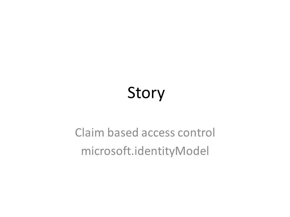 Story Claim based access control microsoft.identityModel