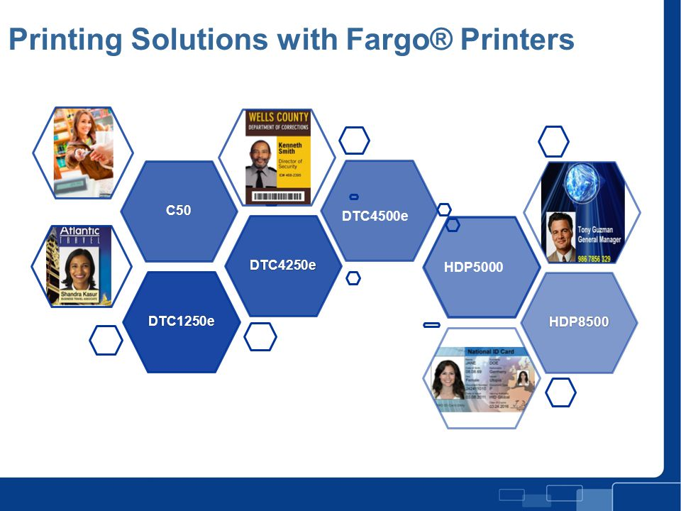 Printing Solutions with Fargo® Printers Full Page Photo with Title Slide DTC4500e HDP5000
