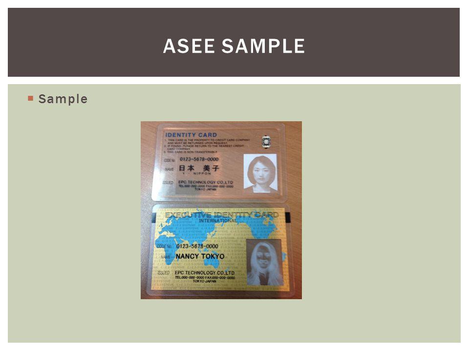  Sample ASEE SAMPLE