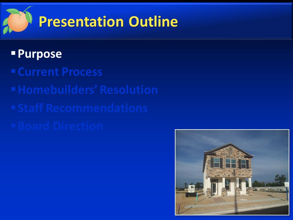 Purpose  Public comment from December 2, 2014  Explain permitting and issues related to model homes  Homebuilders' draft resolution to allow Temporary CO (TCO) for a model home in limited circumstances  BCC direction