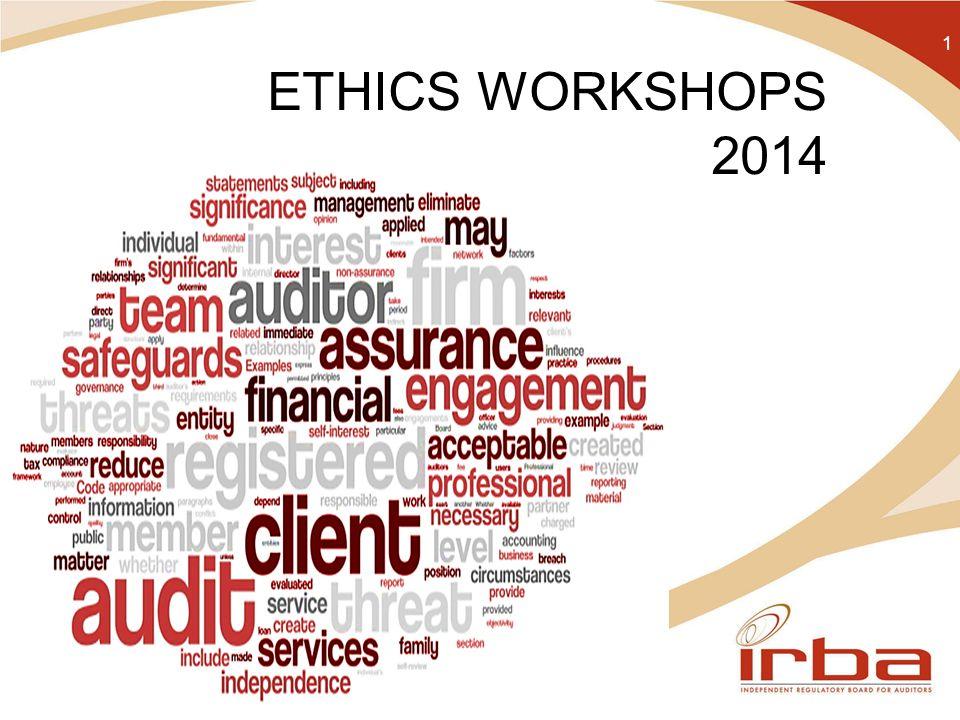 ETHICS WORKSHOPS 2014 1