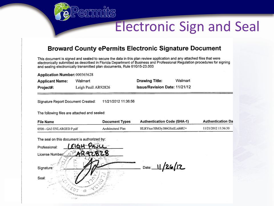 Electronic Sign and Seal