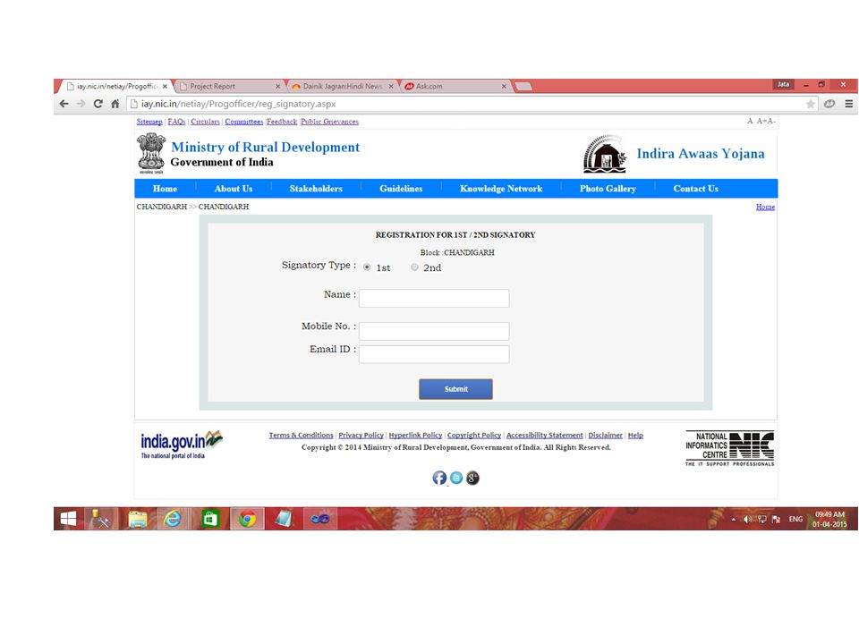Signatory enrolment and activation Registered signatories can login from any login screen with new credentials and enrol their DSCs If the Officer does not have a DSC already, same will have to be procured State MIS nodal officer can activate/de-activate any DSC from state login Once DSC is activated, signatory can login again to generate/ digitally sign the FTO in future