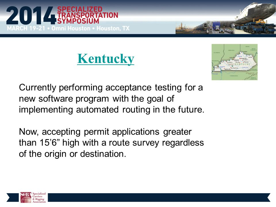 Kentucky Currently performing acceptance testing for a new software program with the goal of implementing automated routing in the future.