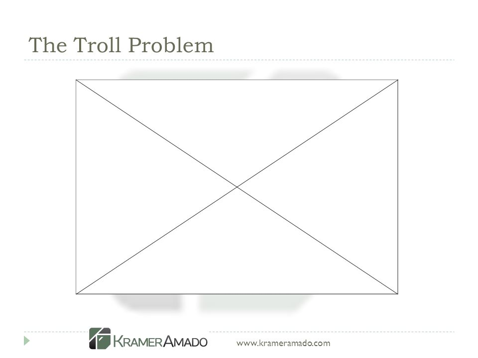 www.krameramado.com The Troll Problem