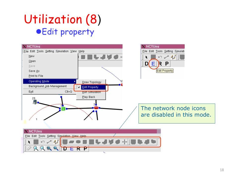 18 Utilization (8 ) Edit property