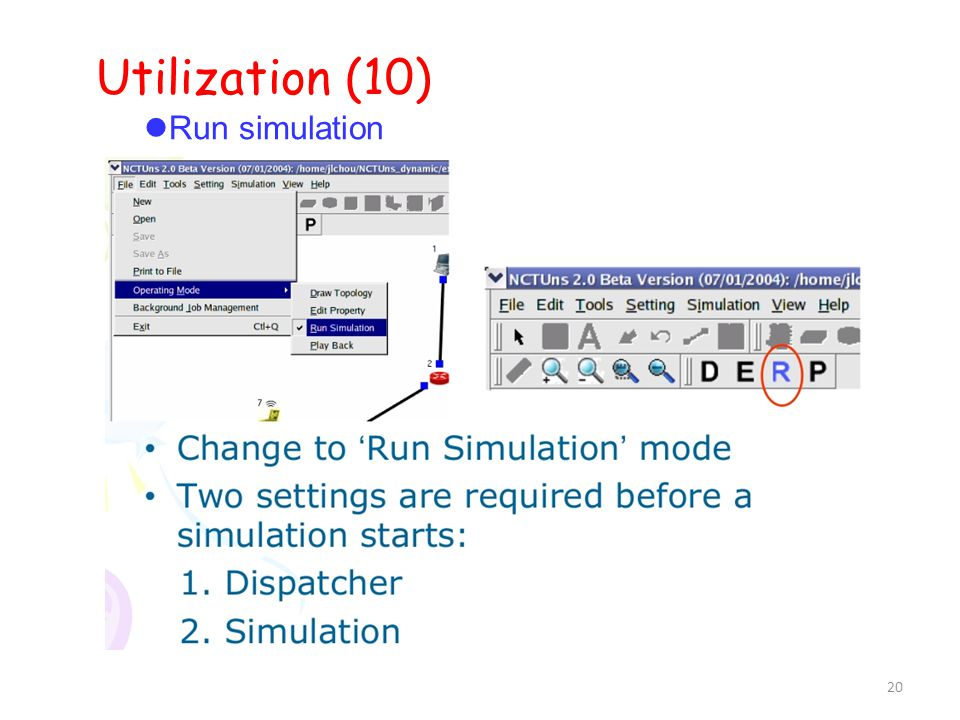 20 Utilization (10) ‏ Run simulation