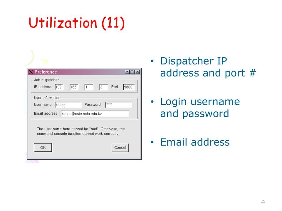 21 Utilization (11) 