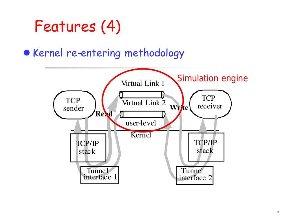 7 Features (4)  Kernel re-entering methodology