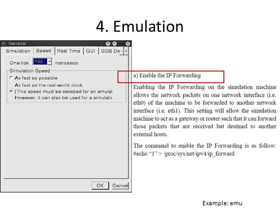 4. Emulation Example: emu