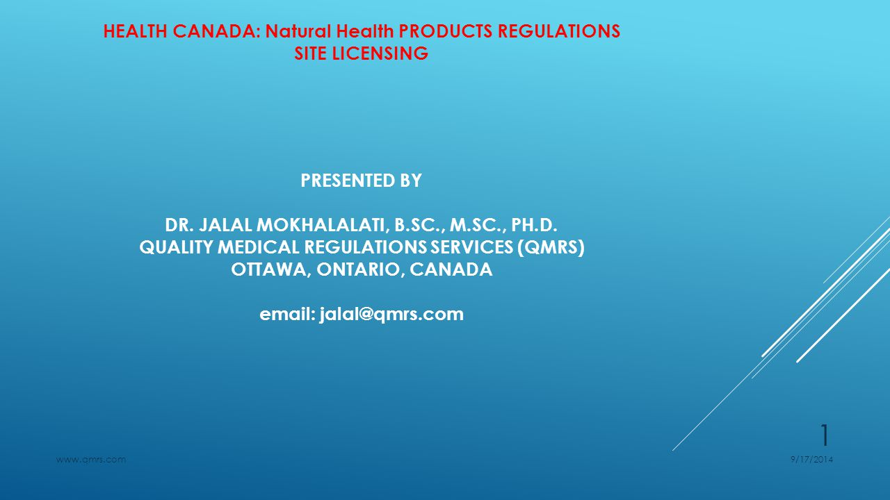 HEALTH CANADA: NATURAL HEALTH PRODUCTS REGULATIONS SITE LICENSING Deficiencies in the Application Deficiencies in the application can range from minor and easily correctable to major or critical, There are four types of deficiencies:  Administrative deficiencies  Minor deficiencies  Major deficiencies  Critical deficiencies 9/17/2014www.qmrs.com 22