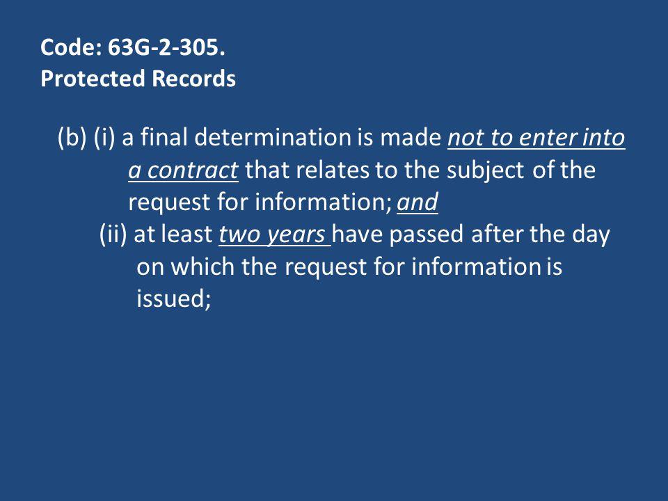 Code: 63G-2-305.