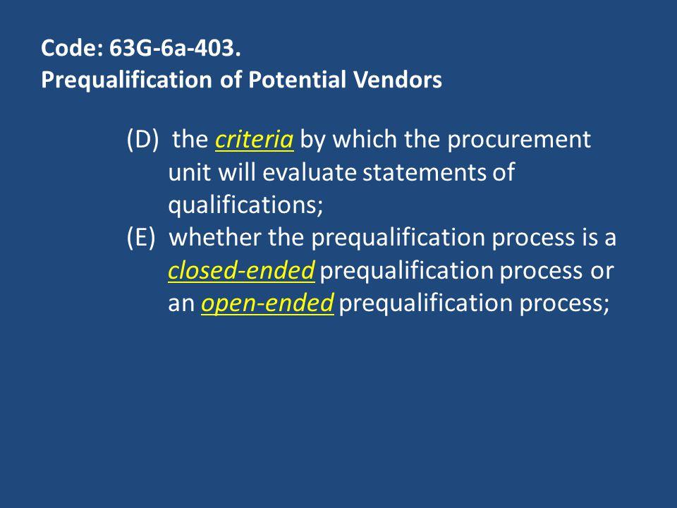 Code: 63G-6a-403.