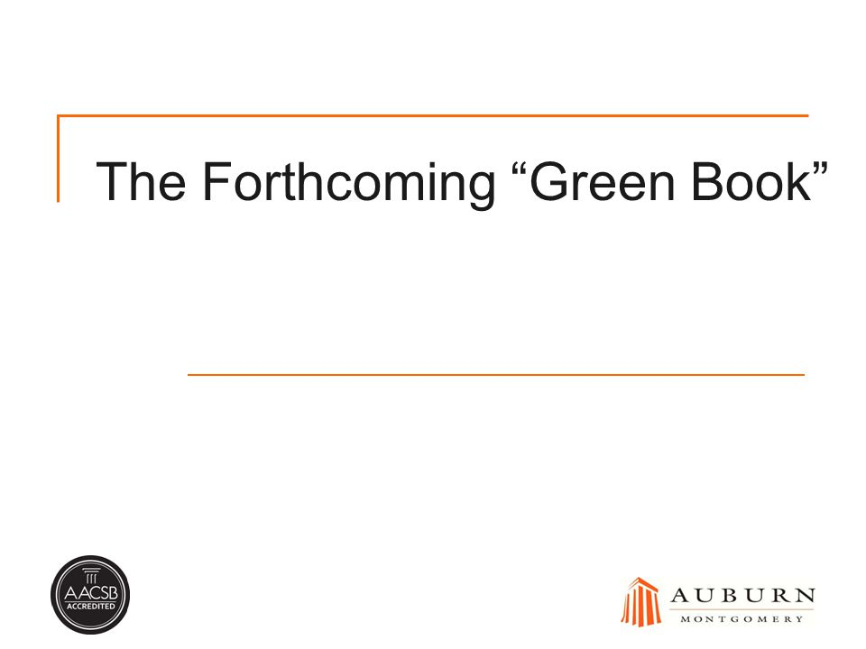 The Forthcoming Green Book