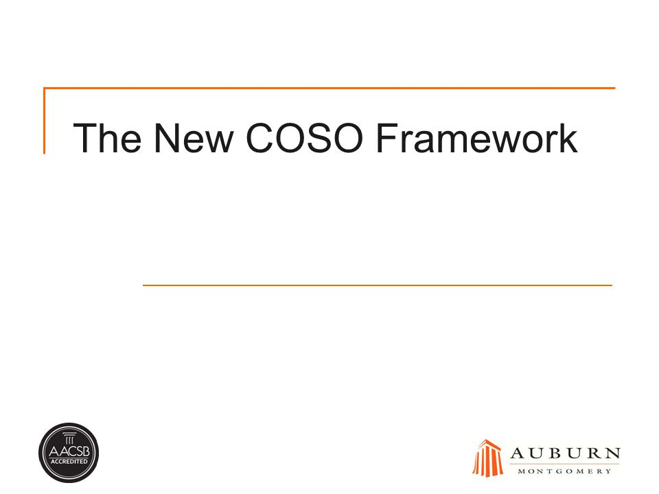 The New COSO Framework