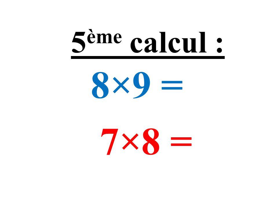 12 + 13 + 14 = 11 + 13 + 16 = 4 ème calcul :