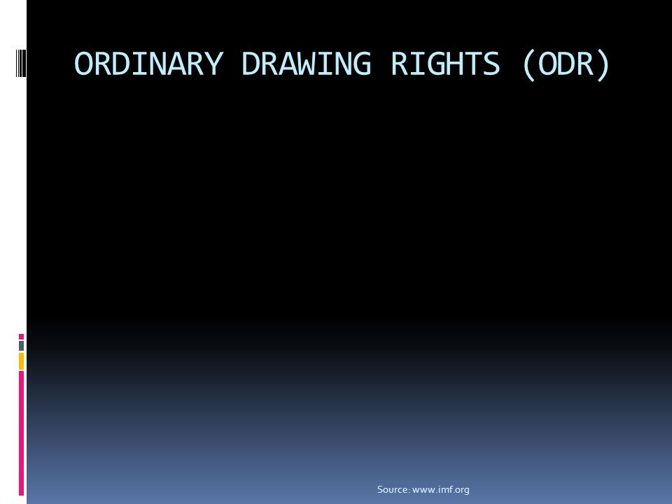 ORDINARY DRAWING RIGHTS (ODR) Source: www.imf.org