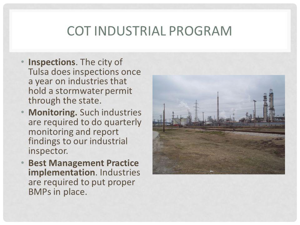 COT INDUSTRIAL PROGRAM Inspections.