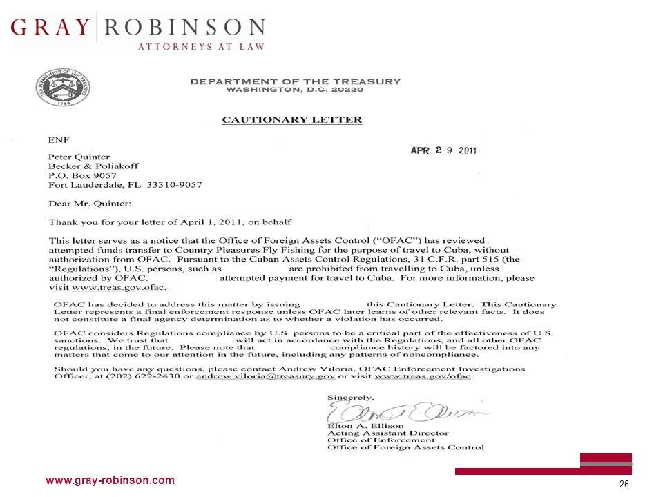 www.gray-robinson.com 26