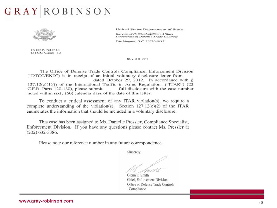 www.gray-robinson.com 40