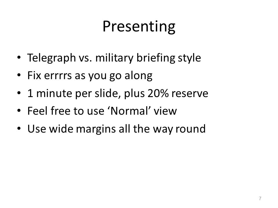 Presenting Telegraph vs.