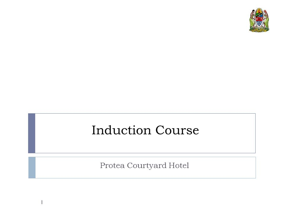 Induction Course Protea Courtyard Hotel 1