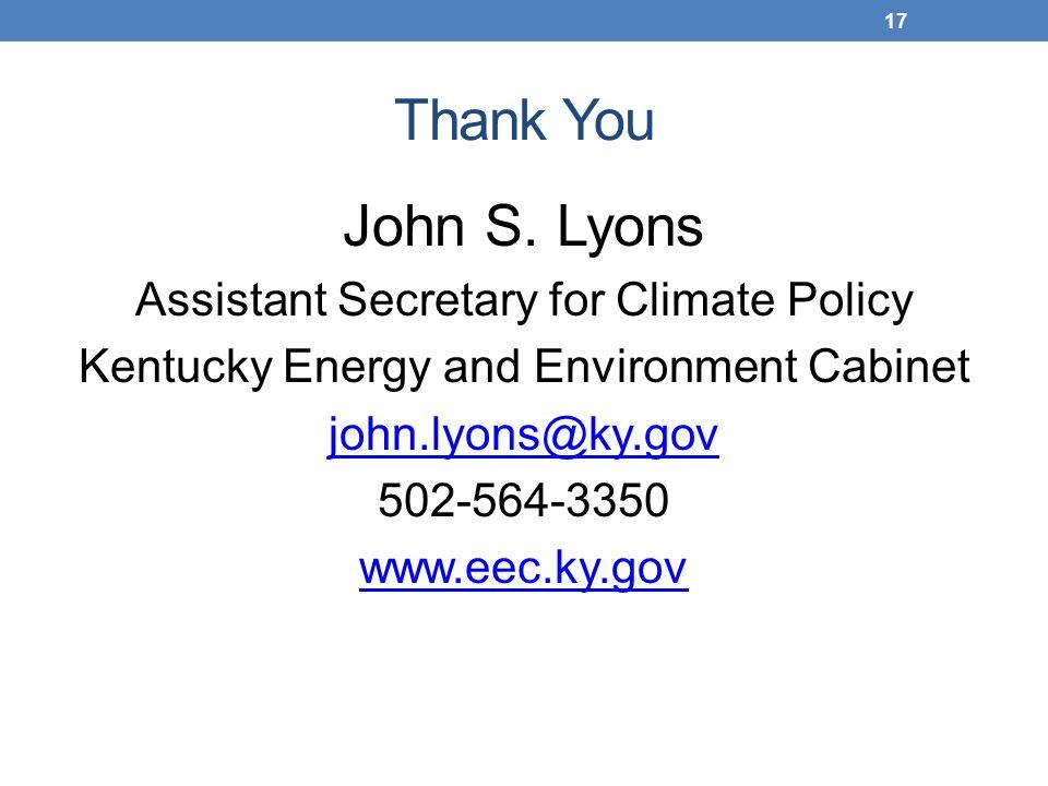 Thank You John S.